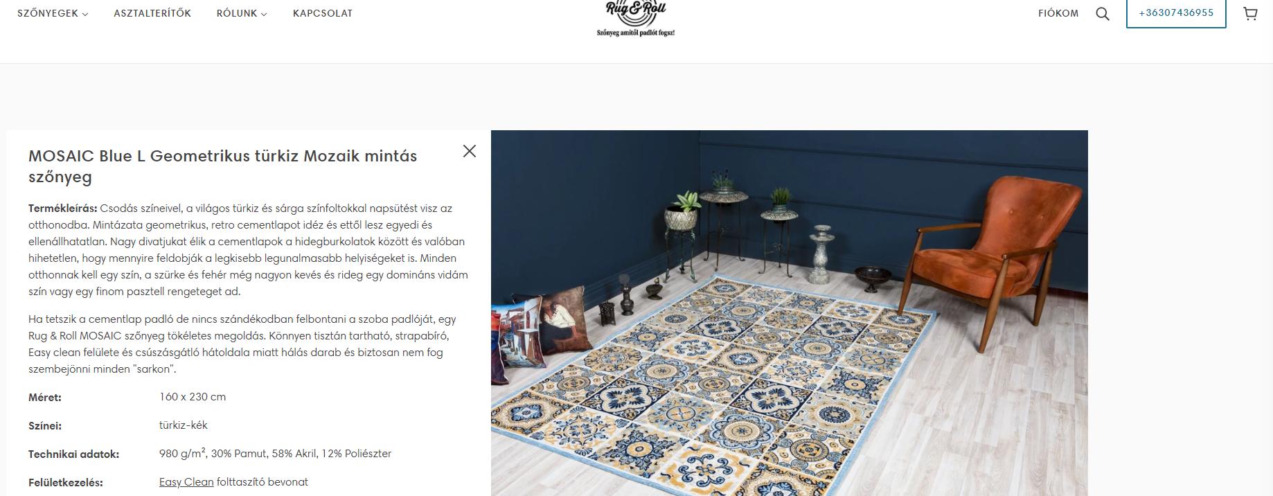 digital iq webáruház átalakítás, termékoldal