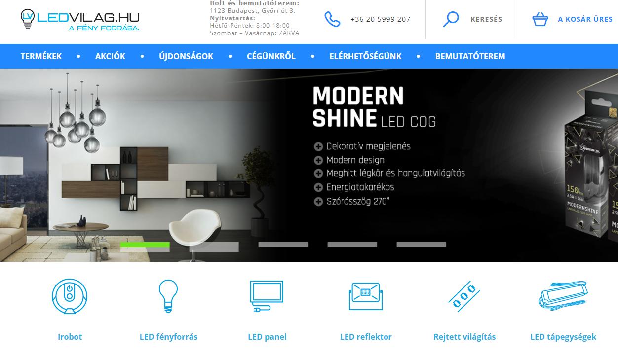 digital iq webáruház átalakítás, webshop nyitólap